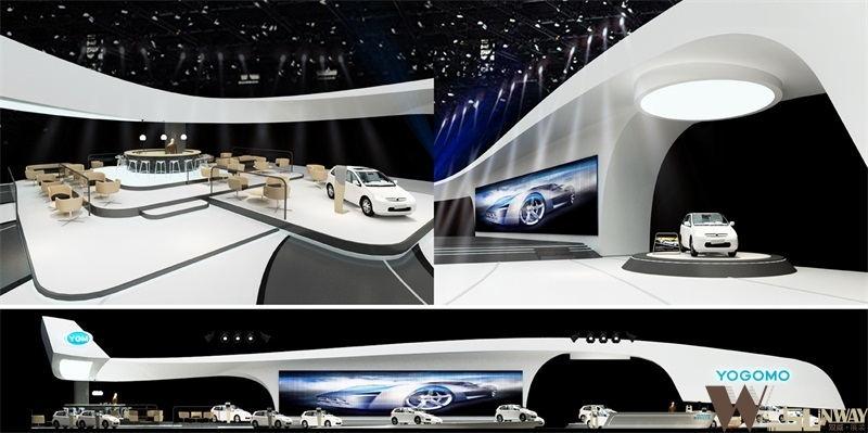 御捷电动汽车展会展厅设计