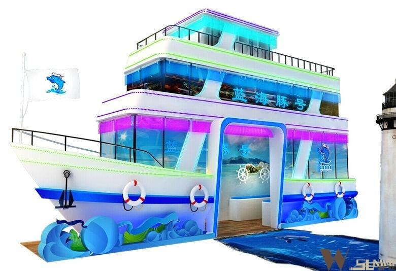 蓝海豚游船商场展厅设计